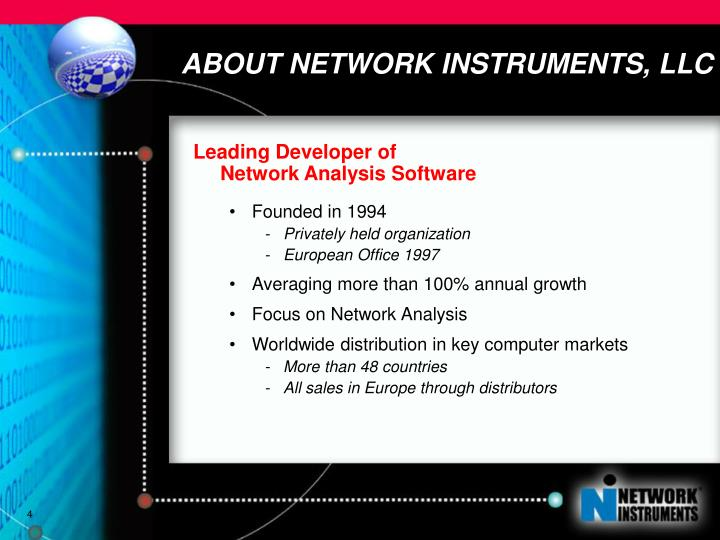 ABOUT NETWORK INSTRUMENTS, LLC