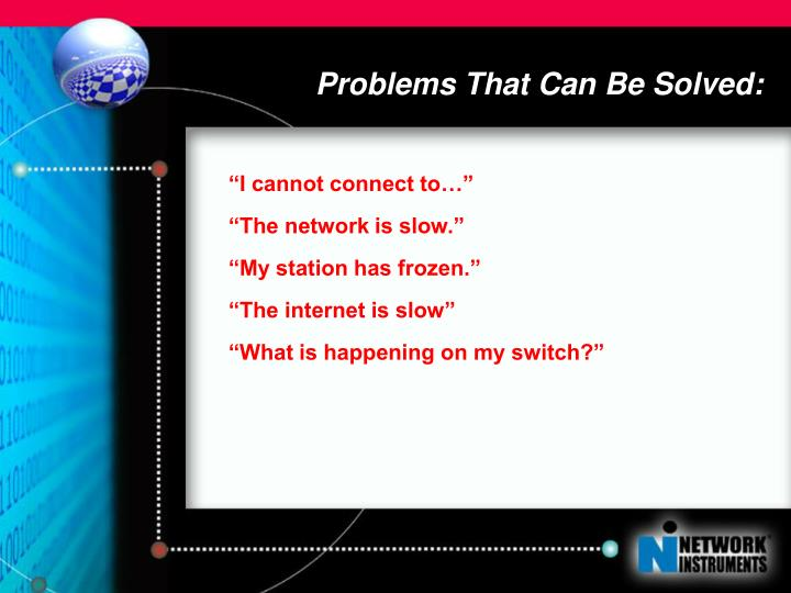 Problems That Can Be Solved: