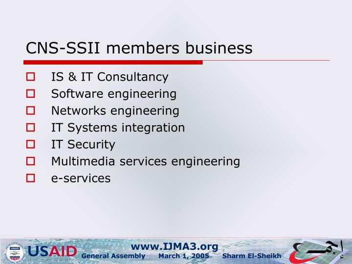 CNS-SSII members business