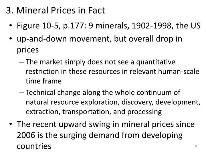 3. Mineral Prices in Fact
