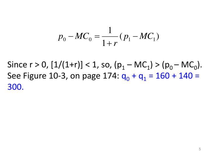 Since r > 0, [1/(1+r)] < 1, so, (p