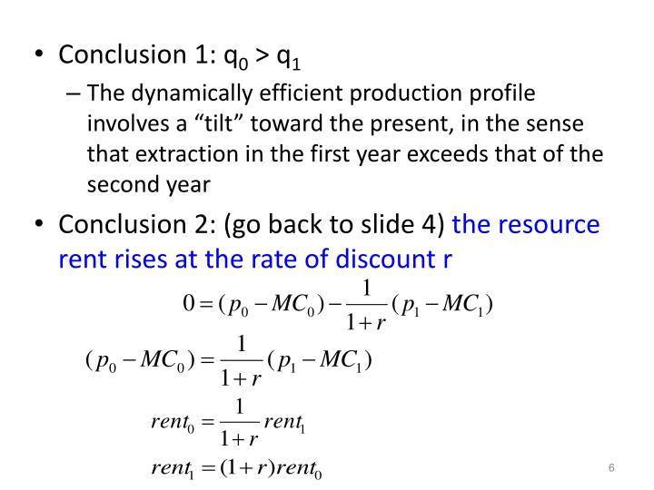 Conclusion 1: q