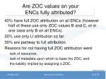are zoc values on your encs fully attributed