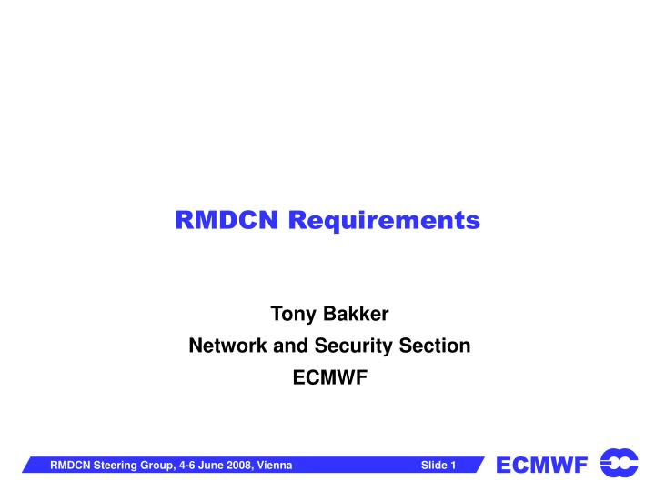 rmdcn requirements n.