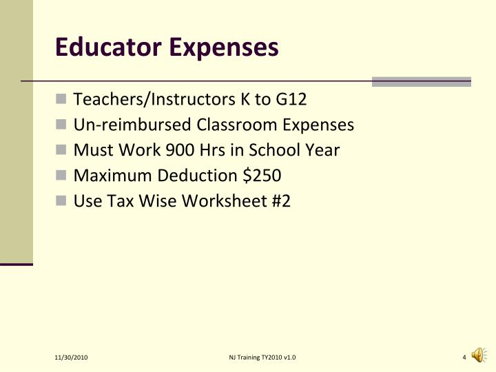 Educator Expenses