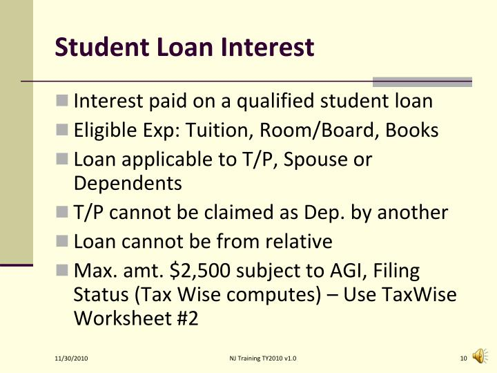 Student Loan Interest