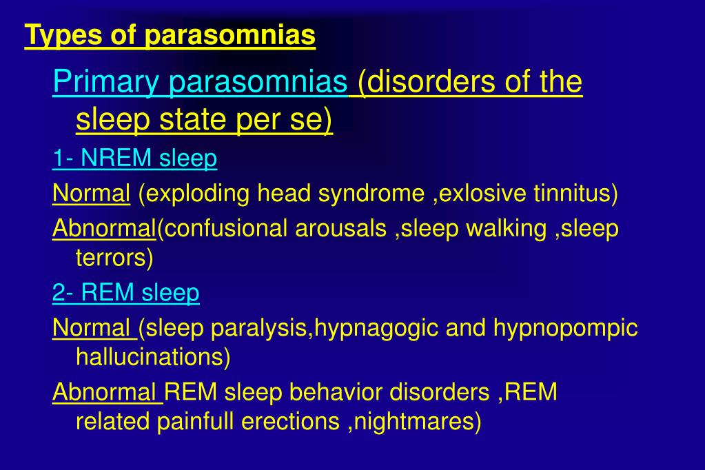 PPT - PARASOMNIAS BY AHMAD YOUNES PROFESSOR OF THORACIC