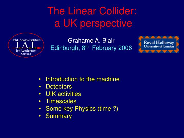 The linear collider a uk perspective