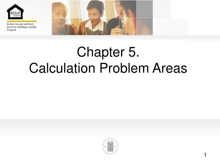 chapter 5 calculation problem areas n.