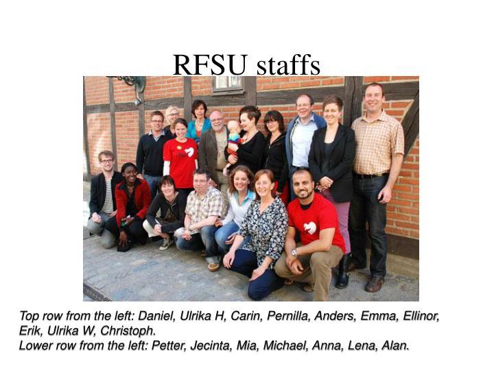 RFSU staffs