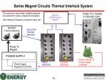 series magnet circuits thermal interlock system