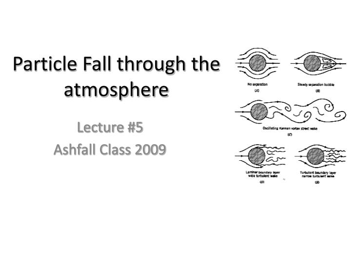 particle fall through the atmosphere n.