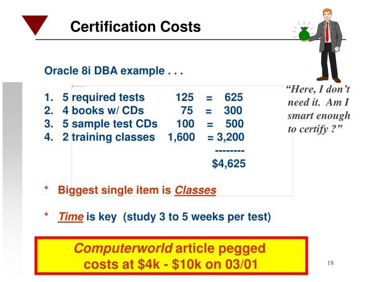 Oracle 8i DBA example . . .