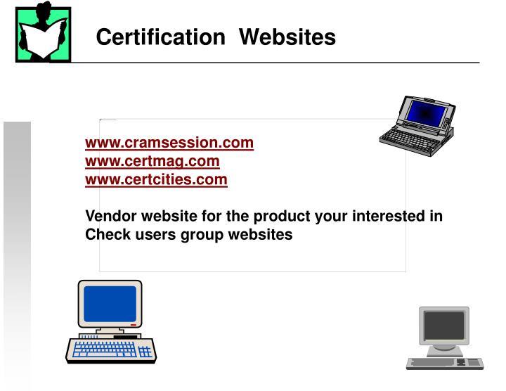 Certification  Websites