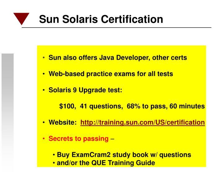 Sun Solaris Certification