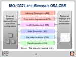 iso 13374 and mimosa s osa cbm