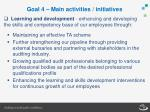 goal 4 main activities initiatives2