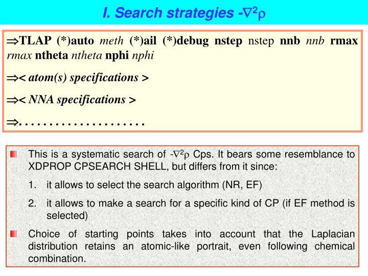 I. Search strategies -