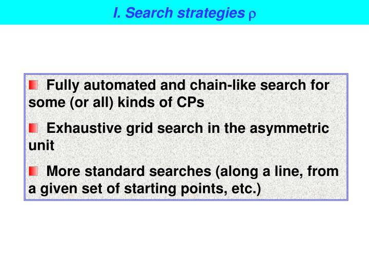 I. Search strategies