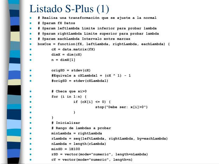 Listado S-Plus (1)