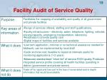 facility audit of service quality