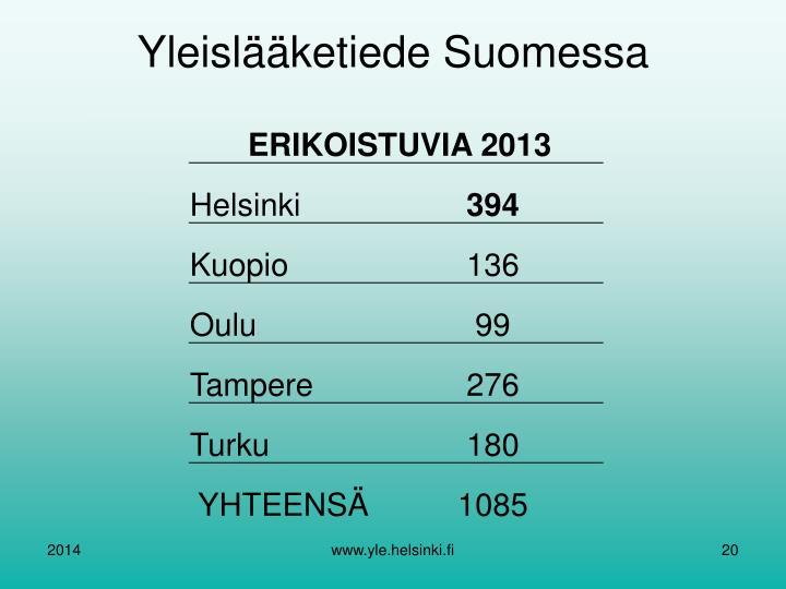 Yleislääketiede Suomessa