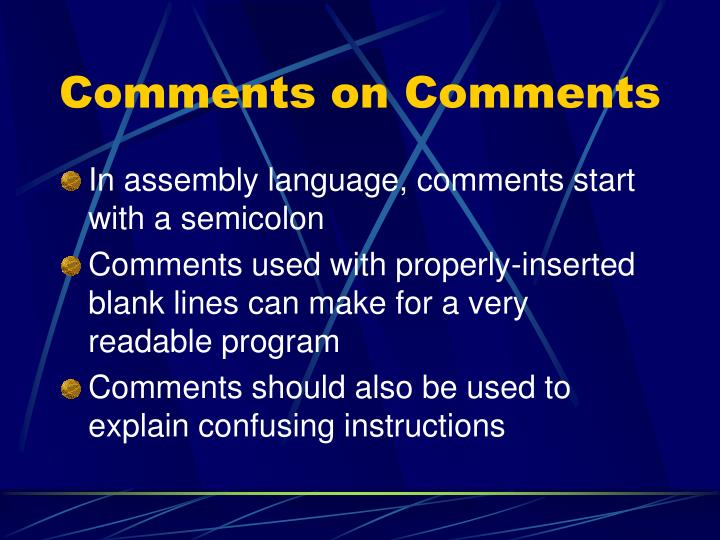 Comments on Comments