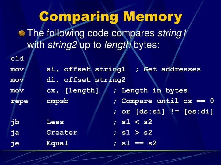 Comparing Memory