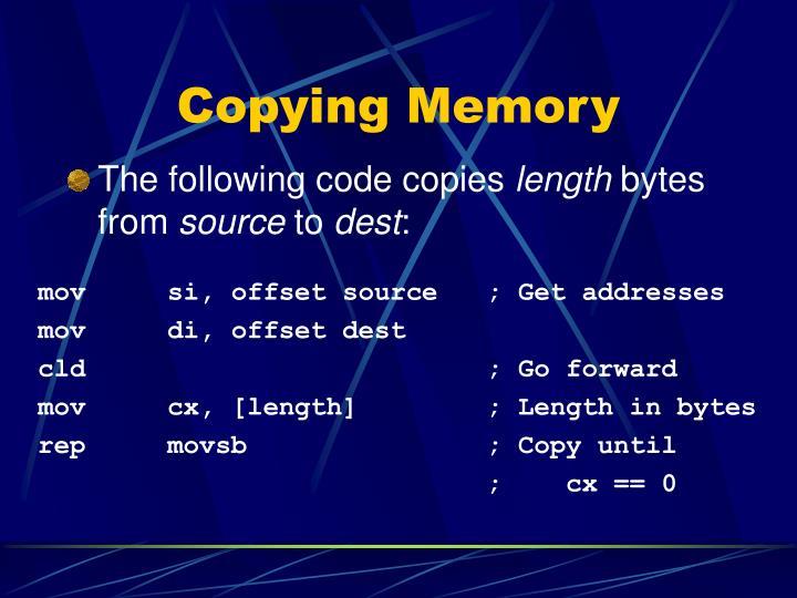 Copying Memory