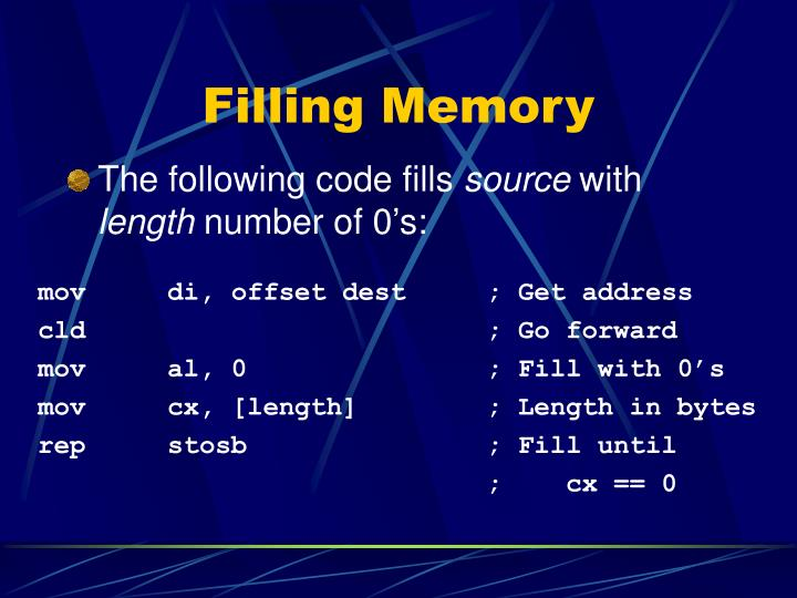 Filling Memory