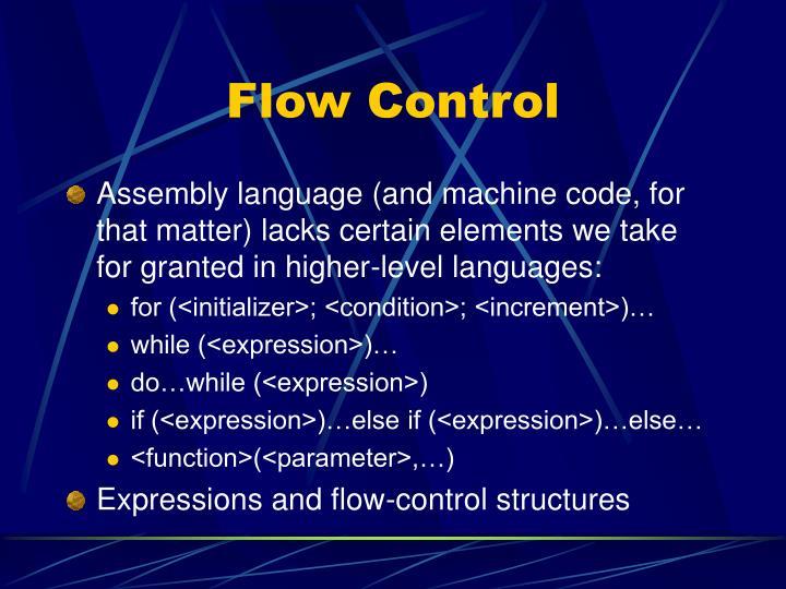 Flow Control