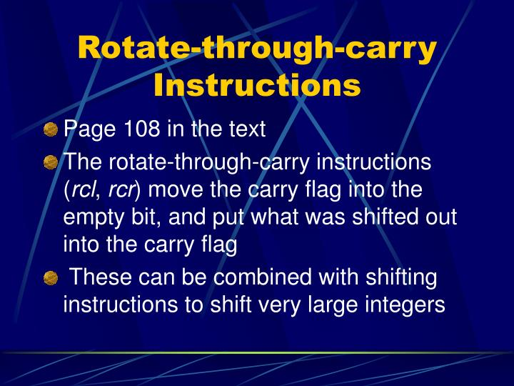 Rotate-through-carry Instructions