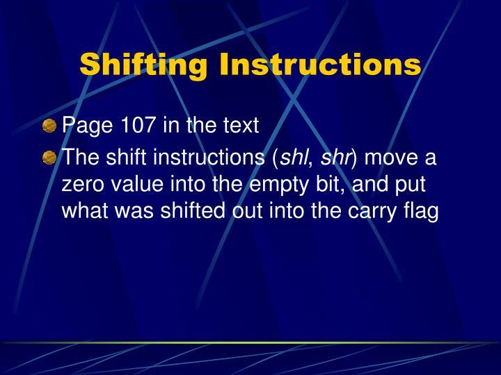 Shifting Instructions