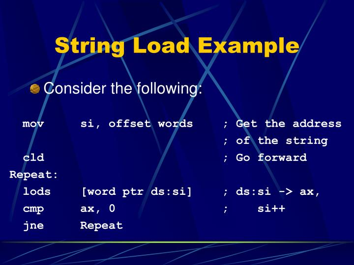 String Load Example