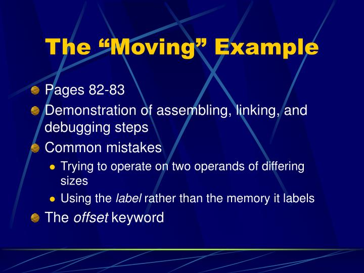 The moving example