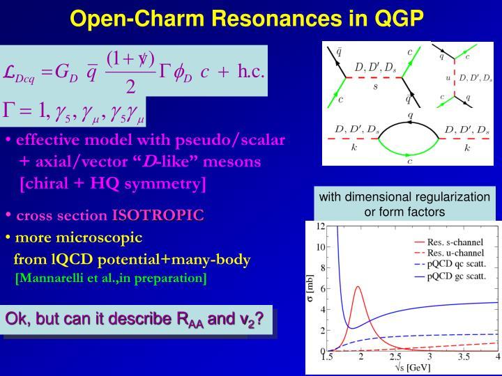 Open-Charm Resonances in QGP