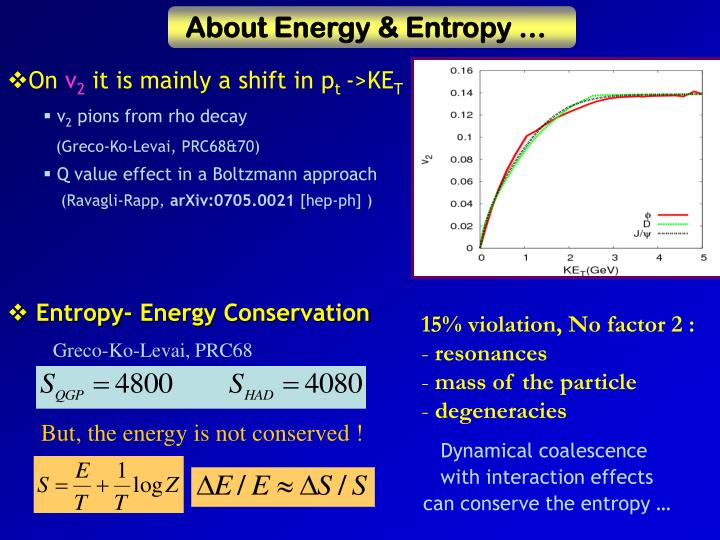 About Energy & Entropy …