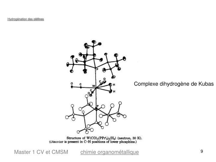 Hydrogénation des oléfines