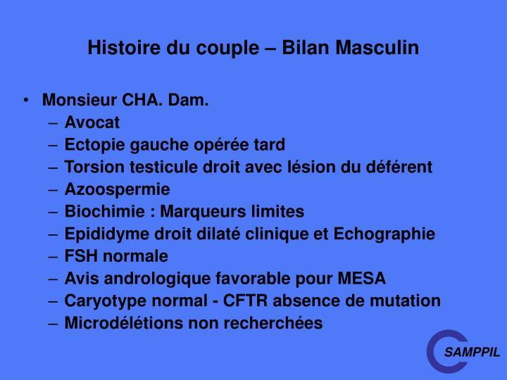 Histoire du couple – Bilan Masculin