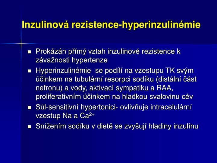 Inzulinová rezistence-hyperinzulinémie