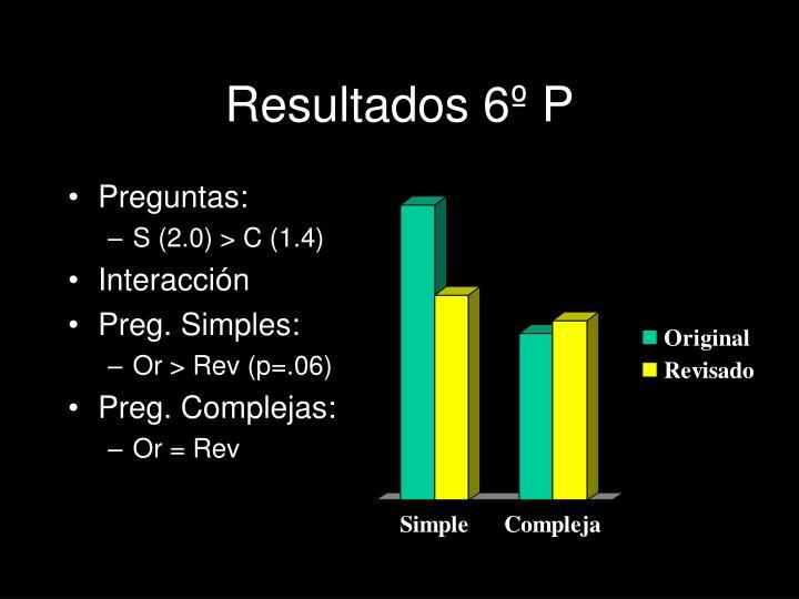 Resultados 6º P