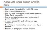 organize your public access files