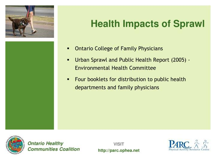 Health Impacts of Sprawl