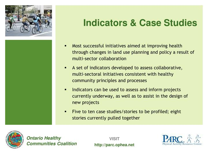 Indicators & Case Studies