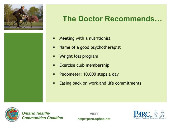 The Doctor Recommends…