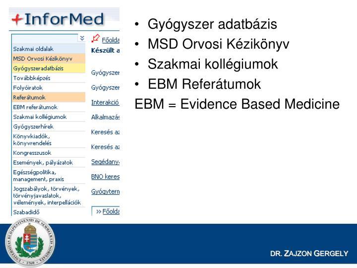 Gyógyszer adatbázis