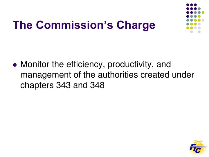 The commission s charge