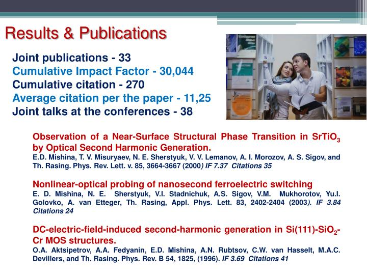 Results & Publications