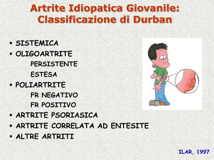 Artrite Idiopatica Giovanile: