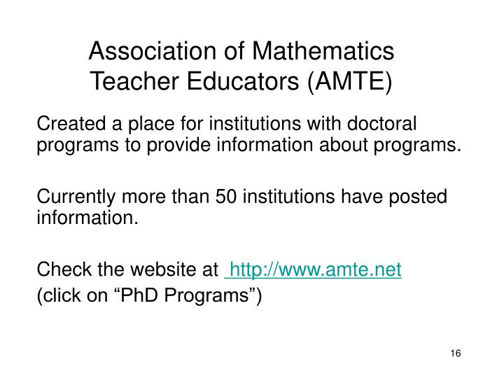 Association of Mathematics